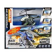 Helicopter Heli Beast - Heli Transbot - A helicopter with a bomb greenish-black