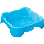 Sandbox - Ein Quadrat Pool ohne Deckel blau