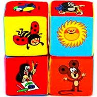 Textilné kocky - Krtko