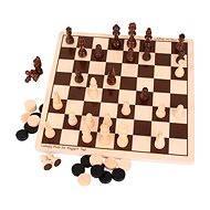 Dřevěné šachy a dáma