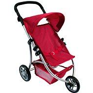 Bino Rad-Kinderwagen für Puppen - rot