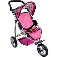 Bino Trojkolesový kočík pre bábiky - farebný
