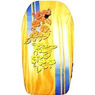 Yellow bodyboard