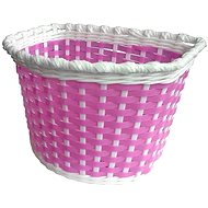 Plastic basket on the bike for girls