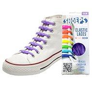 Shoeps - Silikónové šnúrky purple