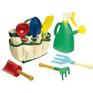 Set of garden tools in the garden