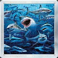Magnetic 3D-Puzzle Sharks