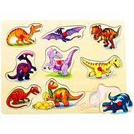 Puzzle na doske - Dinosaury