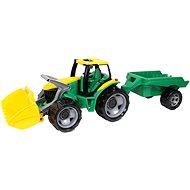 Traktor mit einem Löffel und Anhänger
