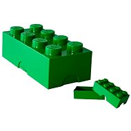 LEGO snack Box 100 x 200 x 75 mm - dark green