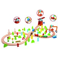 Wooden train track and accessories