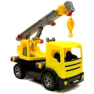 Yellow mobile crane