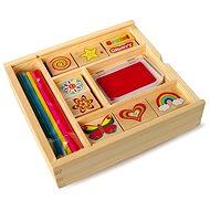 Dřevěné výtvarné hračky - Dřevěná dětská razítka - Kreativní sada