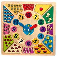 Vkládací výukové puzzle - Nauč se hodiny - Herní set