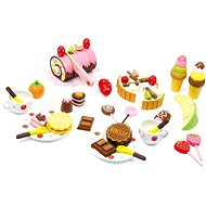 A wooden box of sweets