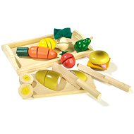 RaKonrad Dřevěné krájecí potraviny - Snídaně - Herní set