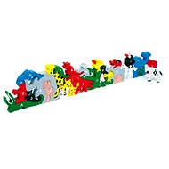 Wooden toys - animals with letters and numbers