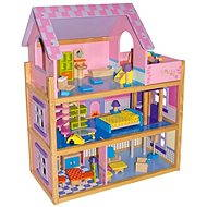 A large wooden dollhouse - Pink