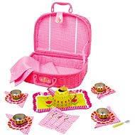 RaKonrad Dětský růžový piknikový koš - Květina - Herní set