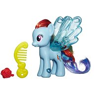 My Little Pony - Pony Rainbow Dash transparent with glitter and accessory