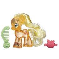 My Little Pony - Pony Transparent Apple-Jack mit Glitzer und Ergänzung - Figur