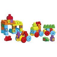 Mega Bloks - 1 2 3 Naučný vláček - Stavebnice