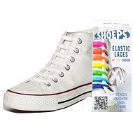 Shoeps - Silikonové tkaničky XL bílé