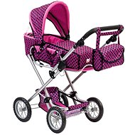 Bino Great stroller bag with pink / black