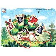 Bino Mole - Threading Tiere - Didaktisches Spielzeug