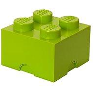 LEGO Úložný box 4 250 x 250 x 180 mm - limetkovo zelený