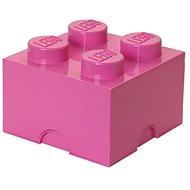 LEGO Úložný box 4 250 x 250 x 180 mm - ružový