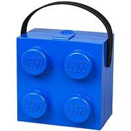 LEGO box s rukojetí 166 x 165 x 117 mm - modrý - Úložný box