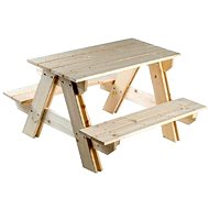 Wooden benches set table +