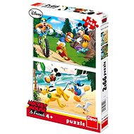 Dino Mickey Mouse sportuje - Puzzle