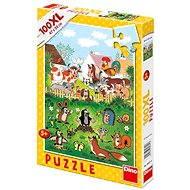 Dino Krteček a jeho kamarádi - Na statku - Puzzle