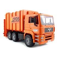 BRUDER MAN Müllwagen Orange Behälter 2 - Auto