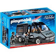 Playmobil 6043 Emergency Police Van with Flashing Lights and Siren