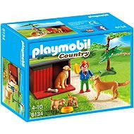 Playmobil 6134 Golden retriever with puppy - Building Kit