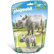 Playmobil 6638 rhino with a calf