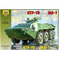 Zvezda Model Kit 3587 vozidlo – Russian Personnel Carrier BTR-70 with MA-7 Turret - Plastový model