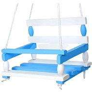 Wooden swing blue