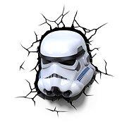 3D Světlo Star Wars Storm Trooperova maska - Osvětlení do dětského pokoje