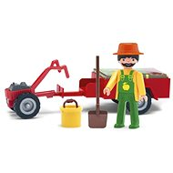 Igráček - Gärtner mit kleinen Traktoren und Zubehör - Spielset