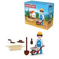 Igráček - Bricklayer with accessories