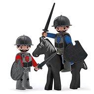 Igráček Trio - 2 Ritter und schwarzes Pferd - Spielset
