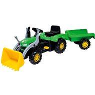 Šliapací traktor s vozíkom
