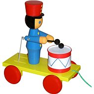 Pulling soldier with drum - Push and Pull Toy