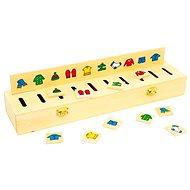 Dřevěná motorická hra - Dřevěná vkládačka Třídění - Hra