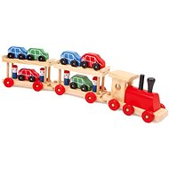 Wooden train with cars in the storeroom - Train