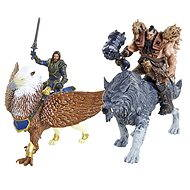 Warcraft - Lothar with Gryphon and Blackhand with Frostwolf - Figure Set